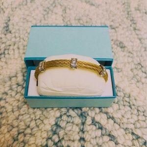 A lot of 2 Brand New Gold Bracelet/Bangle with CZ
